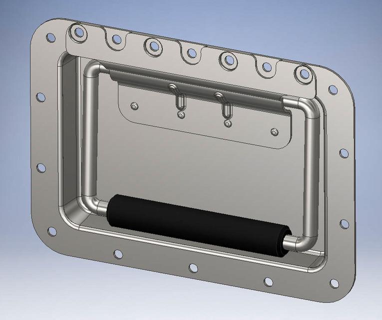 Spring Loaded Case Handle 3d Cad Model Library Grabcad