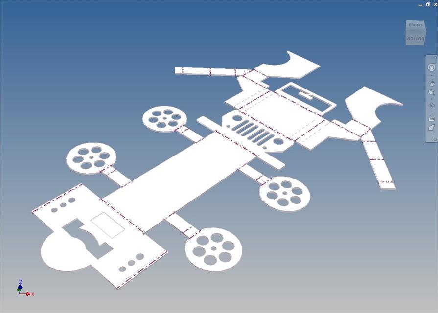 Sheet Metal Jeep 3d Cad Model Library Grabcad