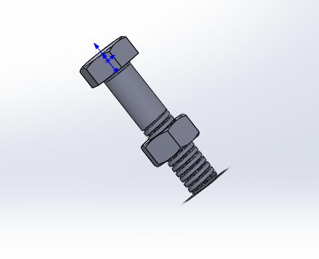 système vis-ecrou | 3D CAD Model Library | GrabCAD