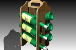 Portable Stand for 6 bottles