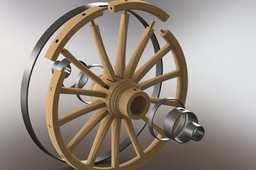 Conestoga Wagon-Front wheel