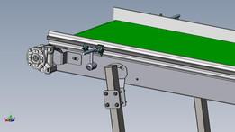 Conveyor belt on wheels 500x3600mm