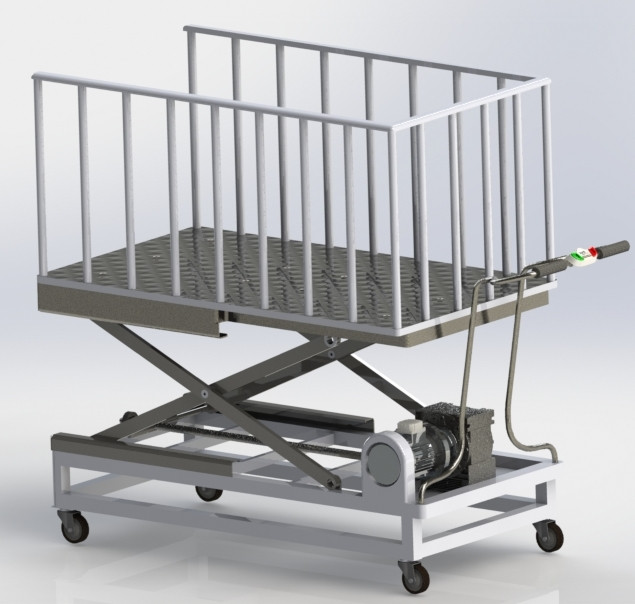 Table elevatrice lift table solidworks solidworks for Table elevatrice