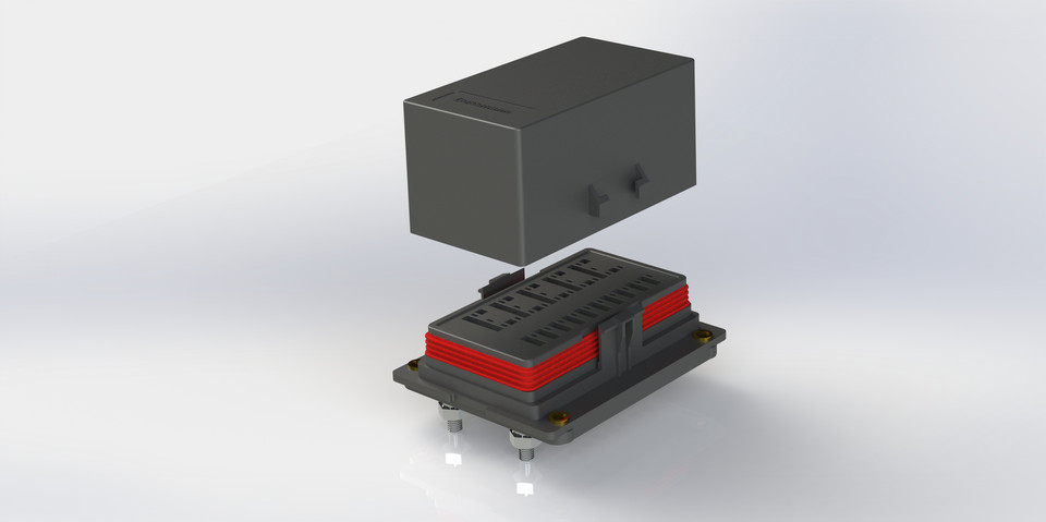 large bussmann 15303 2 2 4 rtmr fuse relay block mock solidworks 3d Automotive Fuse and Relay Box at bakdesigns.co