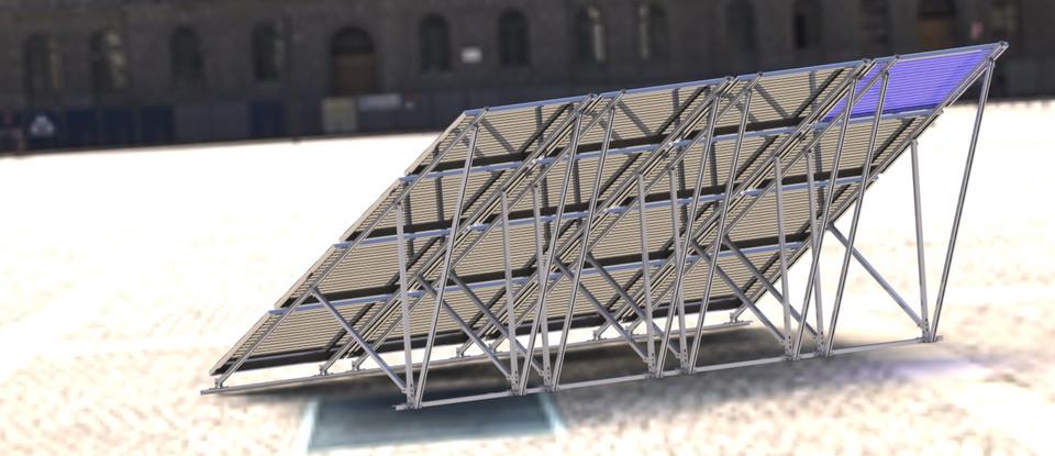 Solar Panel Frame | 3D CAD Model Library | GrabCAD