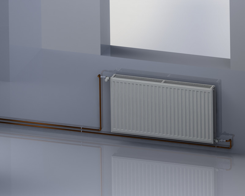 Panel radiator for central heating system. (type: 22k 600x1000) | 3D ...