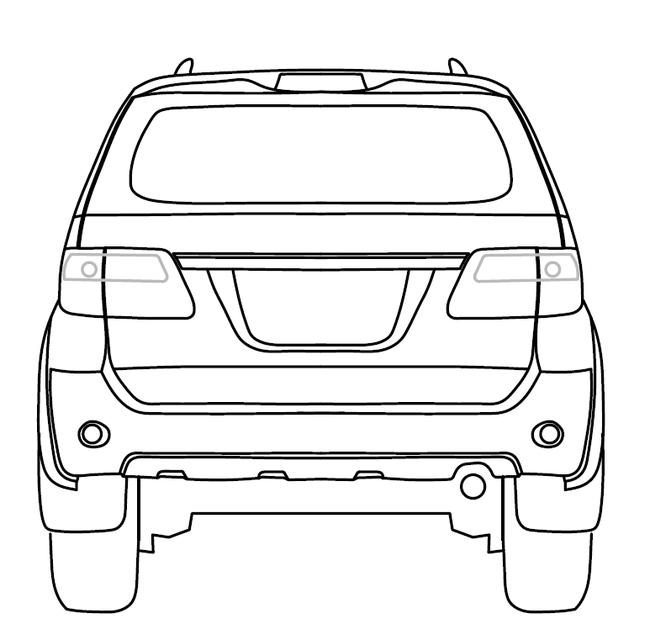 Car Front Elevation Autocad File : Toyota fortuner autocad d cad model grabcad