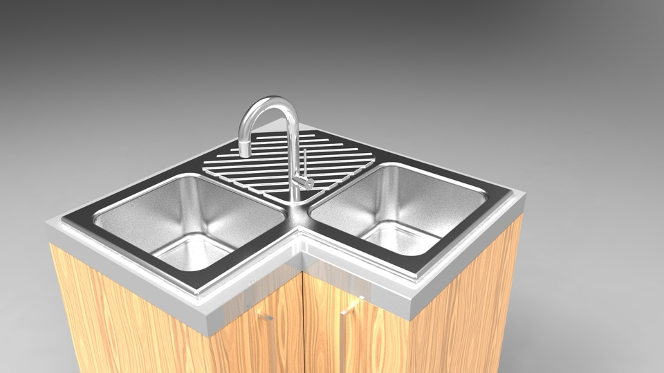 Kitchen sink | 3D CAD Model Library | GrabCAD