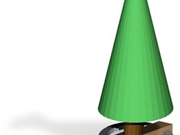 wood x based christmas tree