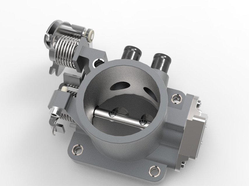Throttle Body | 3D CAD Model Library | GrabCAD