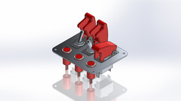 3 Row Red Safety Cover Toggle Switch with Indicator Lights