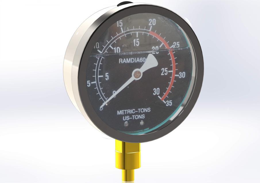 Hydraulic pressure gauge 4