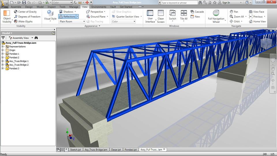 Truss Bridge 3d Cad Model Library Grabcad