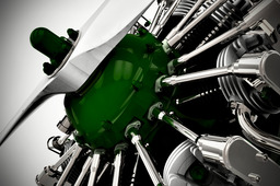 Radial Engine in Keyshot