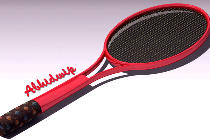 Lawn Tennis Drawing Lawn Tennis Racket