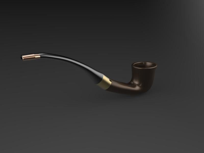 Tobacco pipe | 3D CAD Model Library | GrabCAD