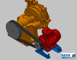 ROSTA Motorbase MB 50 Gen 15 on Slurry pump
