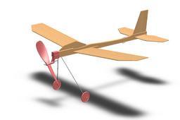 Balsa rubber band plane