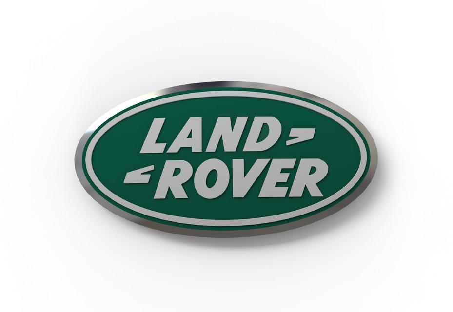 Land Rover Logo >> Land Rover Logo 3d Cad Model Library Grabcad