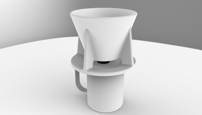 Single Cup Drip Coffee Maker Solidworks 3d Cad Model
