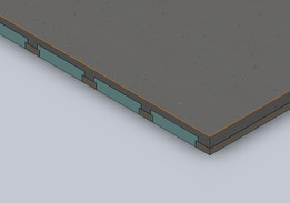 170mm Slab with PB3 polystyrene void formers