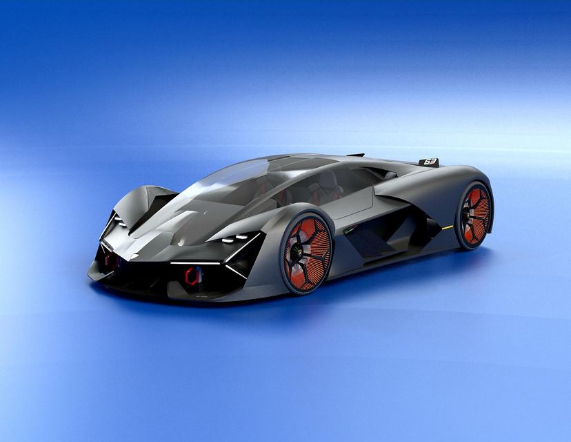 The Lamborghini Terzo Millennio Concept Car 3d Cad Model Library