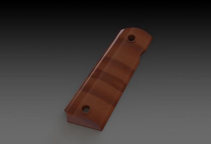 HELP! M1911 Grip | 3D CAD Model Library | GrabCAD