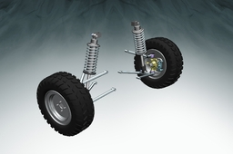 Double A Arm Suspension And Disc Brake With Wheel Assembly