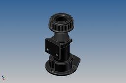 Adjustable plinth foot with plinth clip
