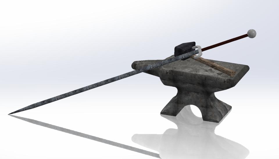 Blacksmith Tools | 3D CAD Model Library | GrabCAD