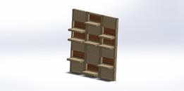 Clapperboard shelves