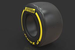 F1 2017 Pirelli PZero Tire Dry Track 305/670-13 (Front)