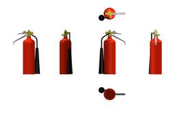CO2 fire extinguisher - WW II