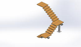 staircase steel and wood escalier