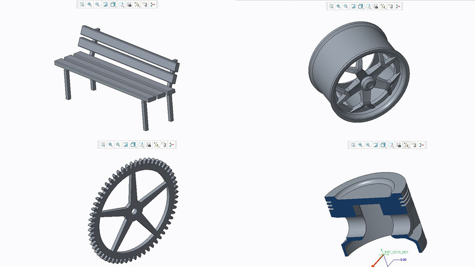CREO exercise files | 3D CAD Model Library | GrabCAD