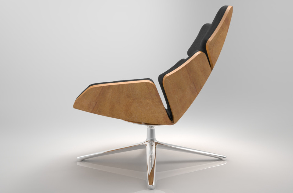 Shrimp Lounge Chair From Jehs+laub | 3D CAD Model Library | GrabCAD