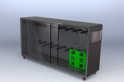 Industrial Cabinet For Metal Carriers Storage ( Clean Room Feasible )