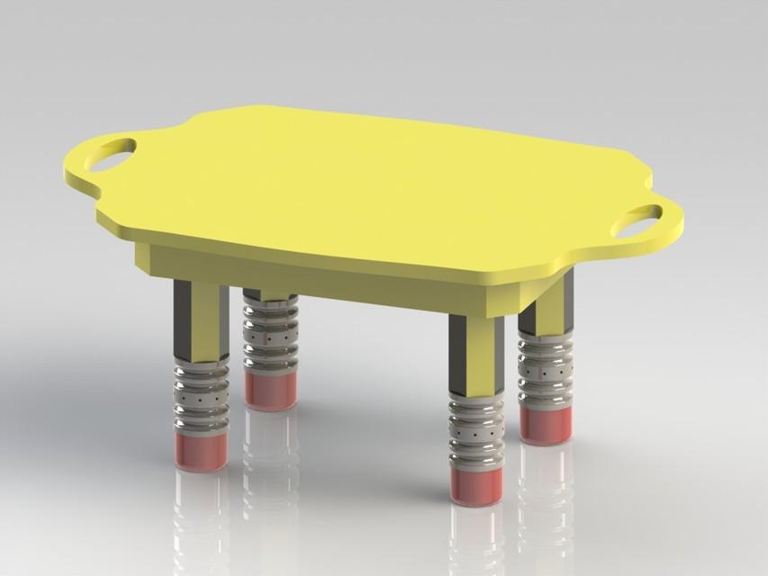 Kid 39 s table design solidworks 3d cad model grabcad for Table design 3d model