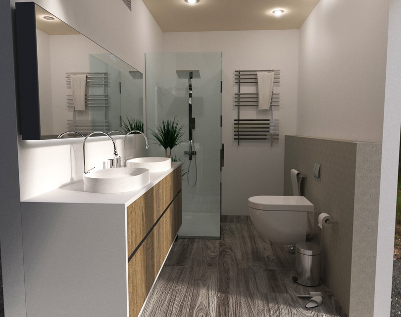 Contemporany Bathroom - Baño Moderno