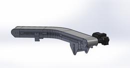 "Parts Conveyor 45° Angled 8"" x 63"""