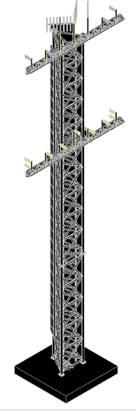 Antenna Tower | 3D CAD Model Library | GrabCAD