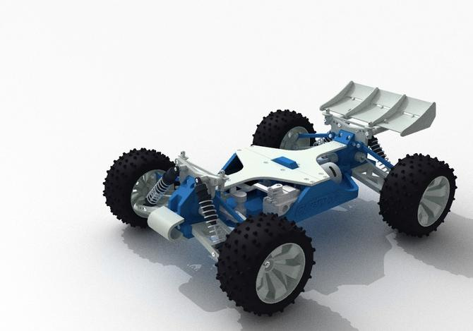 OpenRC, 1:10 3D Printable RC Truggy