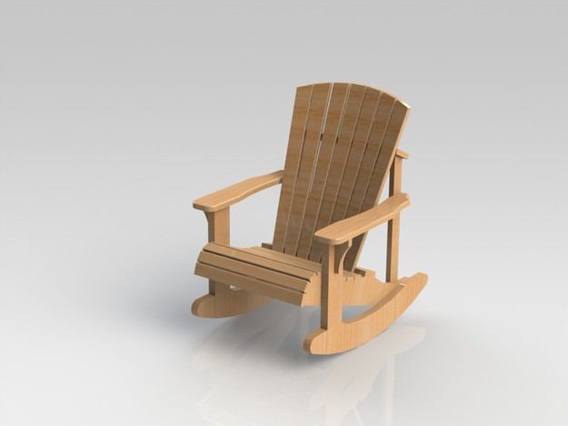 Adirondack rocking chair woodworking plans with lastest for Rocking chair design plans