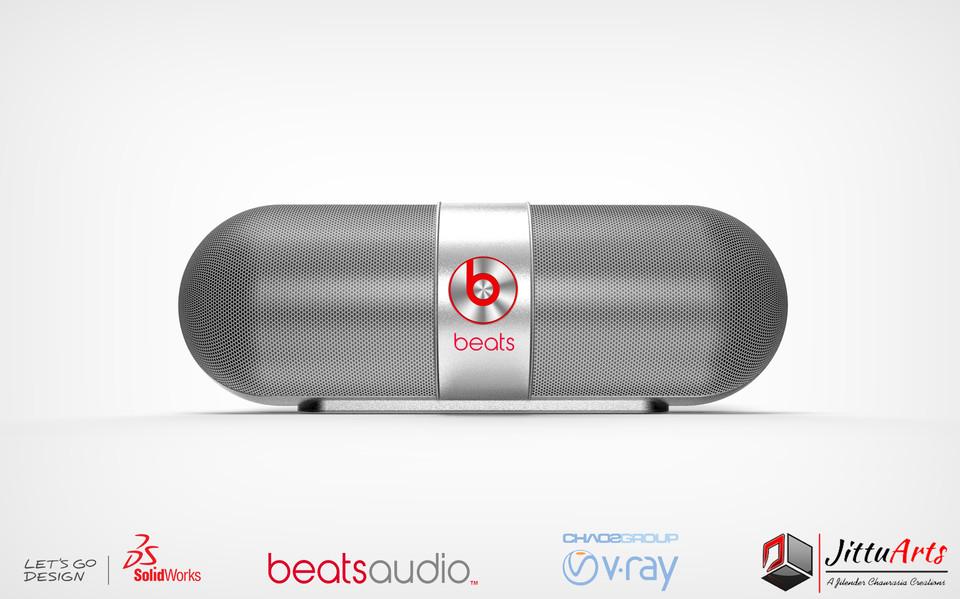 Beats Pill -- Bluetooth Speaker | 3D CAD Model Library | GrabCAD