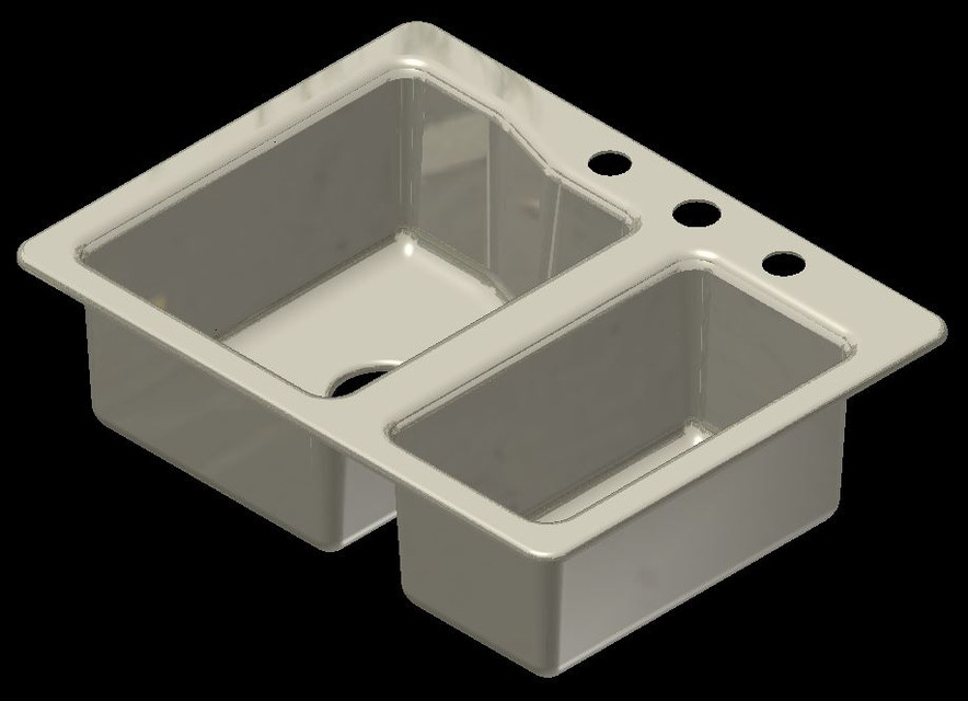 Kitchen Sink | 3D CAD Model Library | GrabCAD