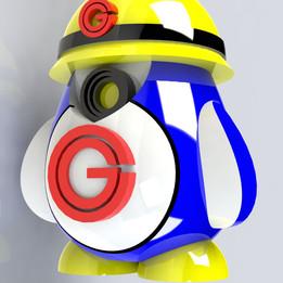 GrabbyTheBot [Miniture Figurine Mascot]