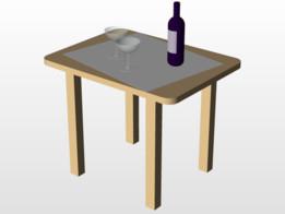 Garrafa e Taça de Vinho no Solid Works