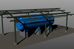 SHELTER FOR FUEL TANK
