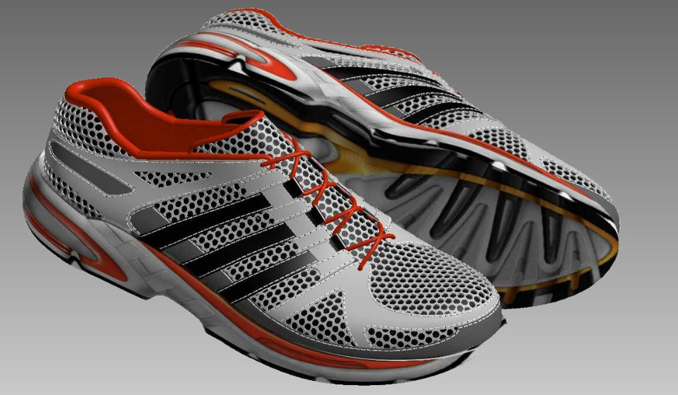 Sports Shoe 3d Cad Model Library Grabcad