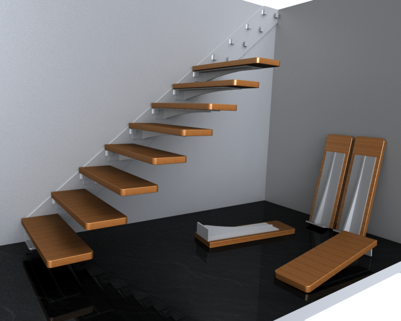 Staircase Plate Simple Solidworks 3d Cad Model Grabcad